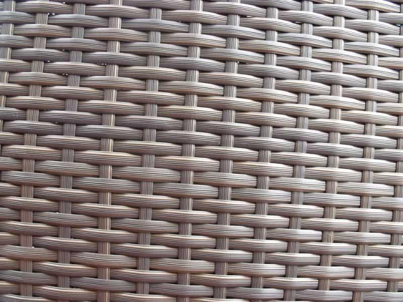 up close brown rattan weave