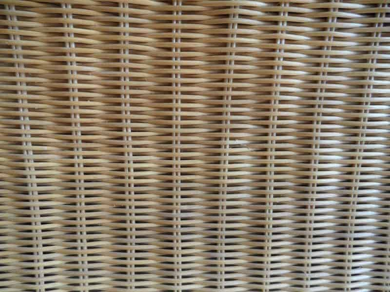 thin rattan weave close up