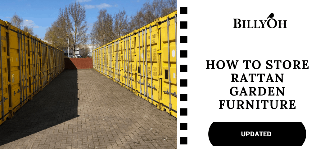 How to store rattan furniture with yellow storage units
