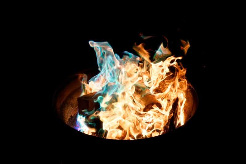 Fire pits providing source of warmth during colder months