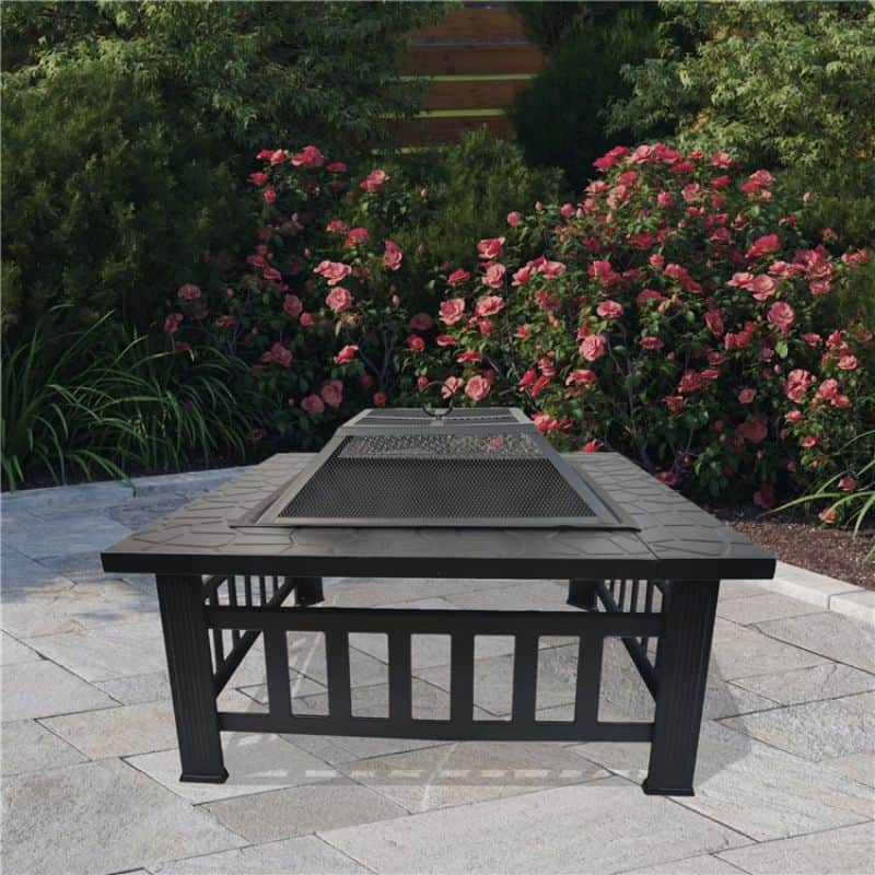 BillyOh Phoenix 3 in 1 Square Metal Fire Pit, BBQ Grill and Ice Pit